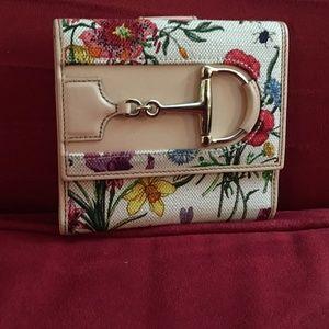 GUCCI Floral Tri-Fold Wallet